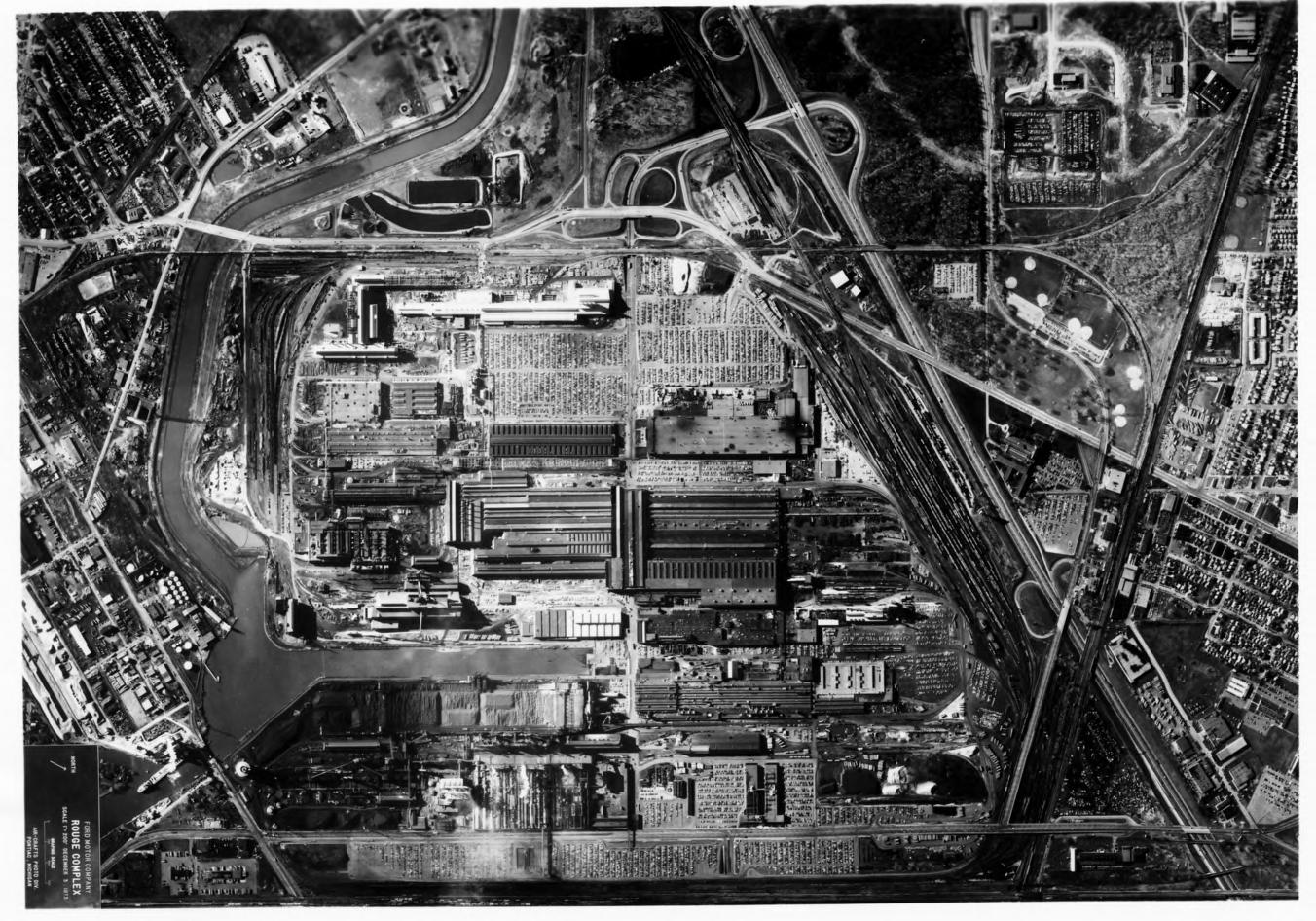 Ford River Rouge Plant 1975 - Luftbild